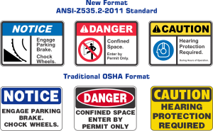 ANSI SAFETY SIGNS