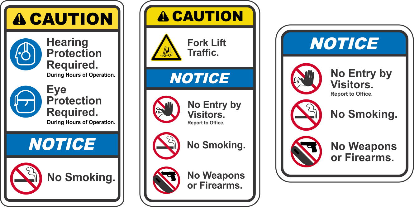 A New Look For Safety Signs The Ansi Z5352 2011 Format Vulcan