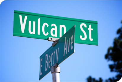 Vulcan Signs - Vulcan Street Name Sign