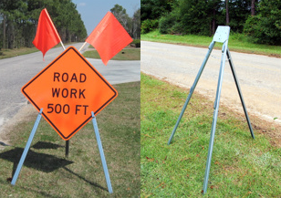 Vulcan Signs - Sign Stands - V-11 Tripod Stand