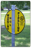 Vulcan Utility Signs Angle Post Project