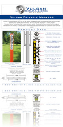 Vulcan Utility Signs - Download Vulcan Drivable Marker Spec Sheet