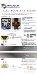 Vulcan Utility Signs - Download Vulcan Durable ID System Spec Sheet