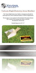 Vulcan Utility Signs - Vulcan High Density Area Markers