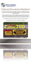 Vulcan Utility Signs - Pavement Markers