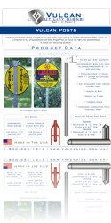Vulcan Utility Signs - Download Posts Spec Sheet