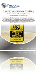 Vulcan Utility Signs - Download Quality Assurance Information